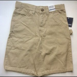 NWT Boys size 8 adjustable waist khaki shorts